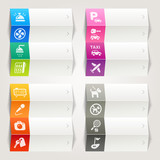 Fototapety Rainbow - Hotel and Resort icons / Navigation template