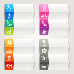 Rainbow - Italian culture icons / Navigation template