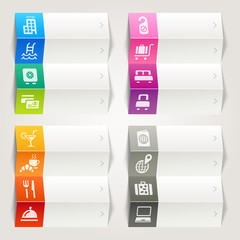Rainbow - Hotel and Resort icons / Navigation template