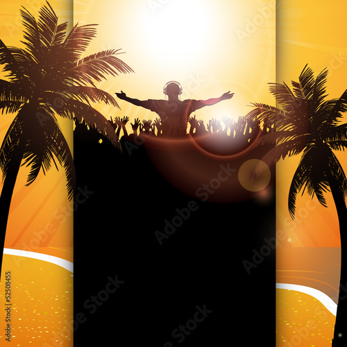 Summer festival panel background