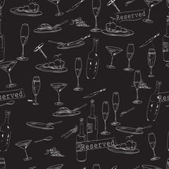 wine and  food pattern