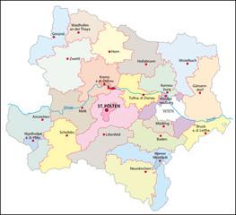 Niederösterreich Bezirke