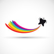 Vector logo butterfly and rainbow