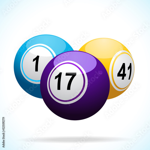 3d bingo balls floating