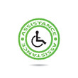 Disabled sign vector .