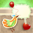 Bird and balloon, custom background