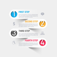 Business steps infographics template