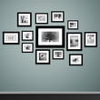 Picture frame vector. Vintage photo frames on wall - 52510875