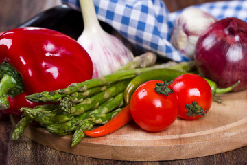 Fresh vegetables for cooking