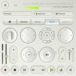 Multimedia user interface set - graphic design elements
