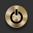 Vector metal multimedia power icon / button