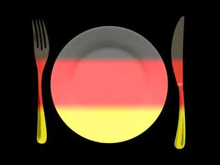 assiette allemande