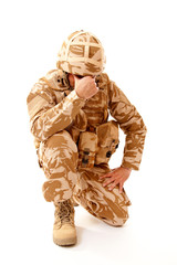Soldier With PTSD