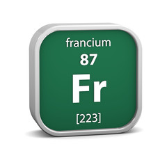 Francium material sign