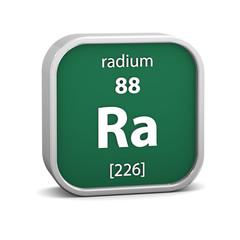 Radium material sign
