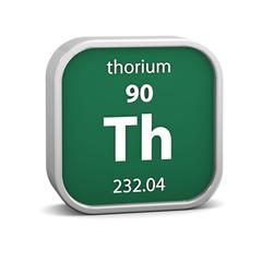 Thorium material sign