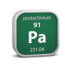 Protactinium material sign