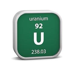 Uranium material sign