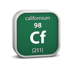 Californium material sign