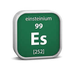 Einsteinium material sign