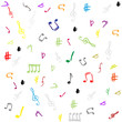 seamless pattern wallpaper of musical notes vector