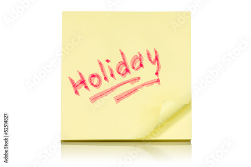 Holiday memo