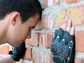 The brick wall blocks a way