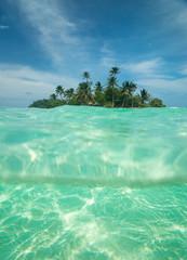 Tropical island in the ocean