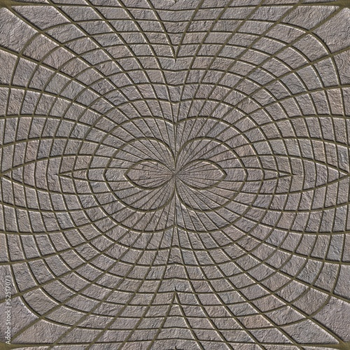 Stone pavement. Seamless pattern.