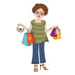 woman at shopping