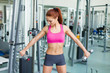 fitness woman working out doing weight training