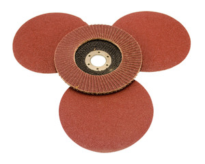 sandpaper for sander grinder tool isolated white