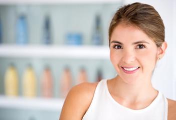Stylist at a beauty salon