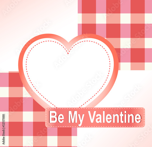 Valentine's background with hearts and place for text