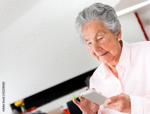 Senior woman using a smart phone