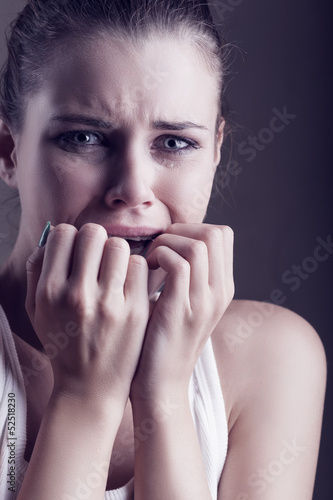 Girl in tears