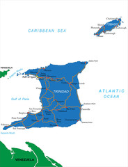 Trinidad & Tobago map