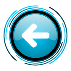 arrow left blue circle glossy icon