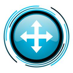 arrows blue circle glossy icon