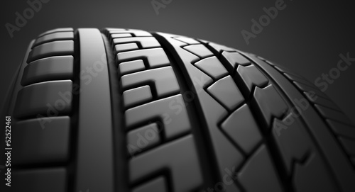 Tire close up.