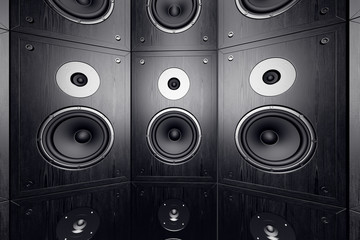 Wall of speakers.