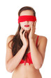 Sensual blindfold woman