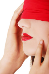 Sensual blindfold woman
