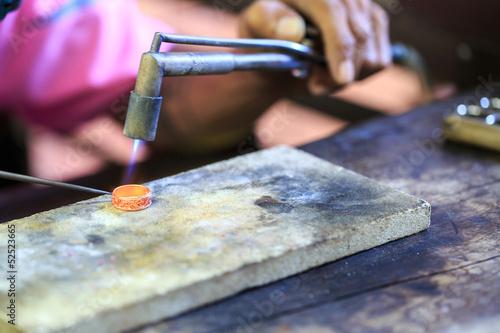 Goldsmith making ring t-shirt