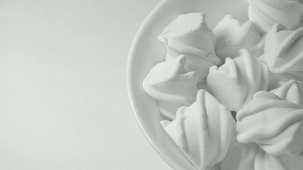 white marshmallows candy (rotating)