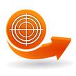 diagnostic sur bouton web orange