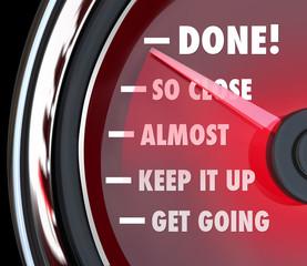 Done Speedometer Tracking Progress Destination