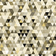 Abstract geometric brown and gray triangles seamless pattern