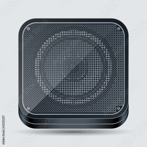 Loudspeaker vector icon