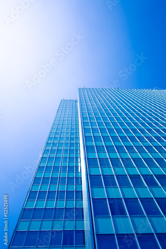 office buildings.  modern glass silhouettes of skyscrapers